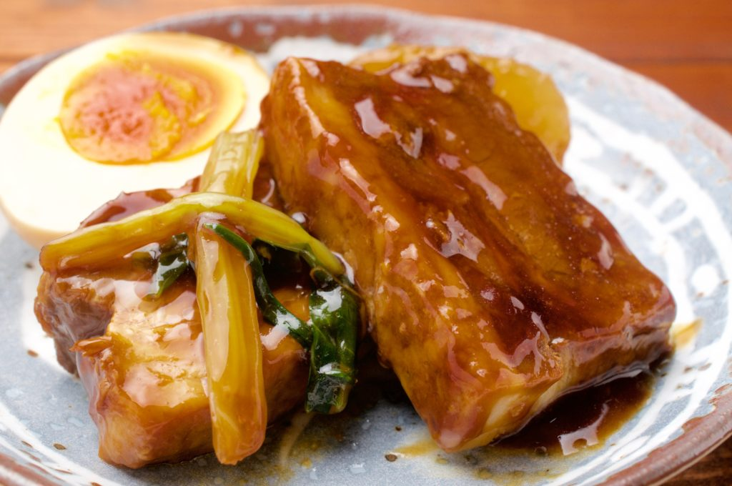 トロットロの豚の角煮の作り方と、トロットロの味付けたまごの作り方